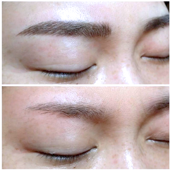 Eyebrow Powder and Feathering Tattoo